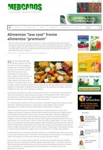 Alimentos low cost frente alimentos premium