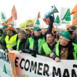 Manifestación de agricultores en Zaragoza.